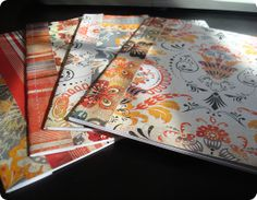 Homemade journals/notebooks from cardstock and copy paper.......make them shoe box size!!!