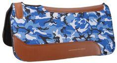Blue camo horse saddle pads