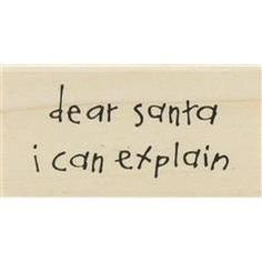 Hobby Lobby-dear sana i can explain rubber stamp
