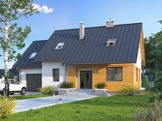 Projekt Szafran 6 to dom z urzytkowym poddaszem i garażem o powierzchni 137,84 m2. Jest to idealne rozwiązanie dla 4 osobowej rodziny. Więcej wizualizacji i szczegółowych informacji na naszej stronie: http://www.domywstylu.pl/projekt-domu-szafran_6.php