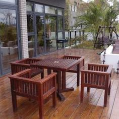 Decks make nice outdoor areas for you to sit or stand and take in some fresh air