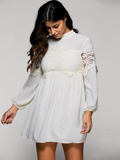 SHARE & Get it FREE | Long Sleeve Mock Neck Swing DressFor Fashion Lovers only:80,000+ Items • New Arrivals Daily Join Zaful: Get YOUR $50 NOW!