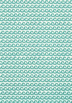 SHORE THING, Turquoise, T16028, Collection Resort from Thibaut #joecornfields #beachhouse