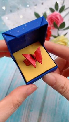 Creative handicraft - creative crafts let's do together!😘😘😍😍 - Diy Crafts Hacks, Diy Crafts For Gifts, Creative Crafts, Crafts For Kids, Stick Crafts, Cool Paper Crafts, Paper Crafts Origami, Instruções Origami, Origami Ring