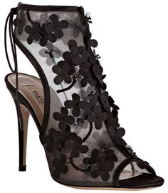 Valentino black floral bootie