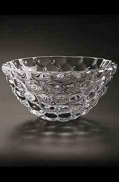 In Orrefors Sweden Crystal Glass Round Shaped Ringholder Fragrant Flavor