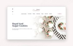 Your customer bakes cookies on request? This Ui/Ux template will help you build a professional company website with your shop. Iced Cookies, No Bake Cookies, Sugar Cookies, Adobe Xd, Ui Ux, Latte, Icing, Place Card Holders, Concept