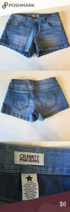 Cute jeans shorts. (New) Never wore these. Celebrity Pink Shorts Jean Shorts