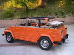 a 1973 VW Thing ... a daily driver show car, believe it or not ... sold lots of Real Estate in this car ... clients would ask to go in this instead of the BMW ???  Go figure.  For more information on Buying and Selling California Real Estate call today 855-955-SOLD (7653)