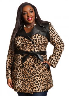Ashley Stewart: Cheetah Print Trench Coat
