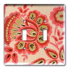 Funky Fab Floral 1960's Vintage Wallpaper Double Switch by Fondue, $16.00