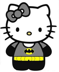 Hello kitty batman! Andy Biersack and Ashley Purdy!!!  ♡♥