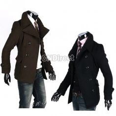 $19.90  Men Winter Fashion Slim Fit Trench Coat Jacket