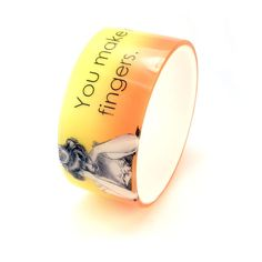 Opaque SNARKY resin bangle --  Resin Bracelet -- You make me wish I had more middle fingers, by BuyMyCrap