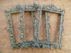 Vintage Ornate Italian Metal Frames/ Set of 3 by LupeandRomeo, $24.00