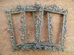 Vintage Ornate Italian Metal Frames/ Set of 3 by LupeandRomeo, $24.00