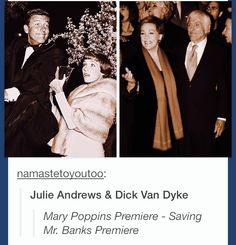Julie Andrews and Dick van Dyke- then and now