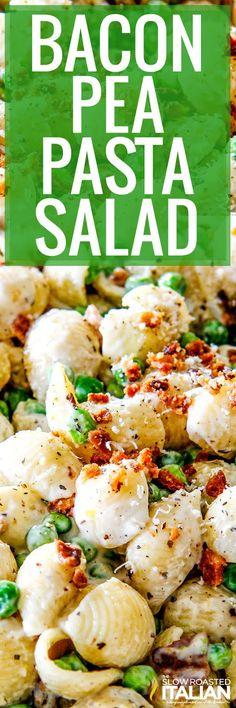 Bacon Pea Pasta Salad