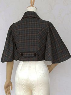 British Check Cape Jacket by Victorian Maiden Capes, Cape Jacket, Love Clothing, Vintage Coat, Warm Outfits, Historical Clothing, Victorian Fashion, Vintage Outfits, Cloaks