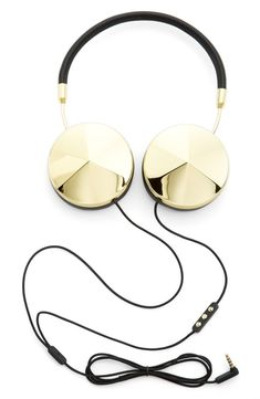 Cool headphones! | Frends Headphones | #style #fashion #gold