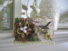 bird nest decorations   Bird Nest Decor - Springtime Decoration - Spring Ornament with bird's ...