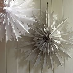 Double Tissue Paper Honeycomb Snowflake - 2 Colours