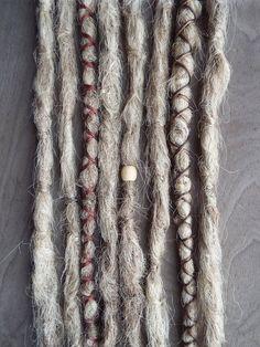 8 Custom Crocheted Synthetic Dreadlock Extensions Boho Dreads