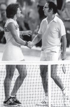 """after Billy Jean King athletically disrobed """"male chauvinistic pig"""" Bobby Riggs in front of the world during the 1973 Battle of the Sexes, she secured a victory for all female tennis players—rather, all female athletes"""