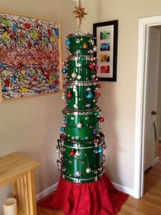 This drum Christmas tree.