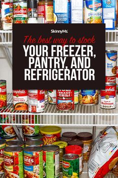 Check out the Best Way to Stock Your Freezer, Pantry, and Refrigerator that will help get you and your family through the next month or two. Kitchen Storage Hacks, Kitchen Hacks, Diy Kitchen, Elegant Kitchens, Cool Kitchens, Meal Prep For The Week, Kitchen Items, Refrigerator, Freezer
