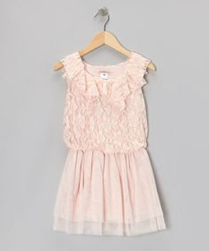 Take a look at this Pink Lace Ruffle Dress - Toddler & Girls by Paulinie on #zulily today!