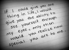 How special u are to me