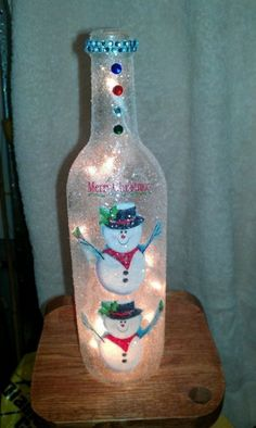 Christmas bottle light