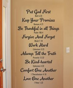 Look at this 'Bible Family Rules' Wallquotes.com Decal on #zulily today!