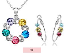 candy crystal jewelry set (necklace and earrings)
