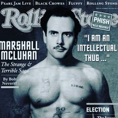 Marshal Marshal Marshal...can u make sense of the interwebs and social medias for us? Oh right u already did. #understandingmedia #themediumisthemassage #thegutenberggalaxy #ff #flashbackfriday Pearl Jam, Make Sense, Rolling Stones, Instagram Posts, How To Make, Fictional Characters, The Rolling Stones