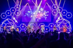LED Hexagons | Church Stage Design Ideas