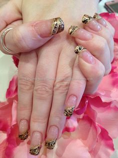 Freehand leopard nail art. these are beautiful! best leopard print i have seen yet.