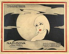 Nazimova Oscar Wilde Salome Movie Poster