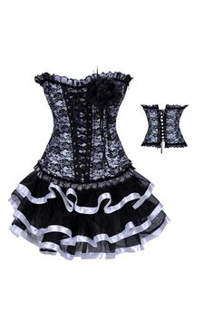 Sexy Corset Dress Waist Training Corsets And Bustiers Langerie Steampunk Skirt Gothic Corsets
