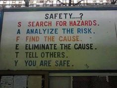 Safety! What does it stand for?