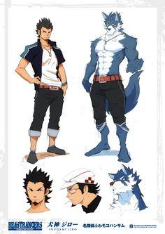 Beast Rancer Inugami Jiro by javidavie on DeviantArt Fantasy Character Design, Character Design Inspiration, Character Concept, Character Art, Furry Art, Fantasy Characters, Anime Characters, Anime Furry, Character Illustration