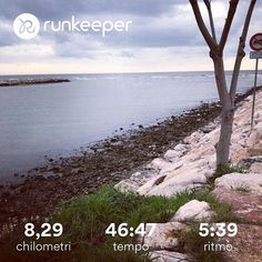 Saturday easy run  #run #running #runner #saturday #easyrun #sea #clouds #training #runtomarathon #runkeeper #nevergiveup