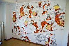 Calvin and Hobbes Wall by TyrannRex.deviantart.com on @deviantART