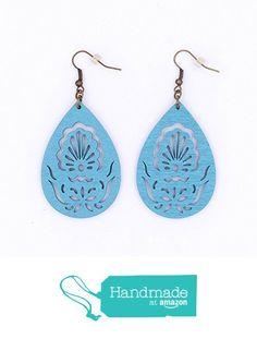 Light Blue Wood Peacock Filigree Earrings, Teardrop, Antique Bronze, Featherweight, Dangle Earrings from Moon Rose Design http://www.amazon.com/dp/B01G60E98Q/ref=hnd_sw_r_pi_dp_Iw0rxb14WQDBR #handmadeatamazon