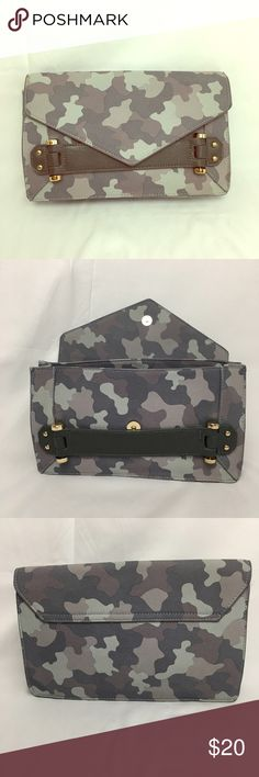"""Charles by Charles David Clutch Camouflage clutch. Dimensions: 11.5"""" wide, 7.25"""" tall, and 2.25"""" width. Charles David Bags Clutches & Wristlets"""