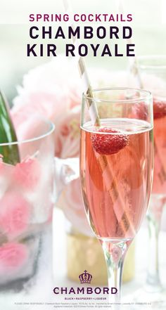 What do you get when you combine Chambord Black Raspberry Liqueur, cranberry juice, and champagne? The perfect cocktail to celebrate spring of course! See the full recipe for this Chambord Kir Royale to see how simple this fruity drink is to make for your next occasion.