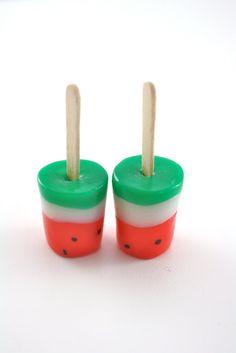 Watermelon Pops Food for American Girl Dolls Watermelon . - Watermelon Pops Food for American Girl Dolls Watermelon Pops Food for Ameri - American Girl Food, American Girl Parties, My American Girl Doll, American Girl Crafts, American Girl Accessories, Girl Dolls, Ag Dolls, Doll Food, Clay Food