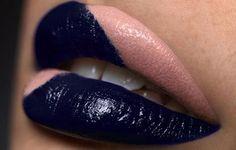 Double lip makeup