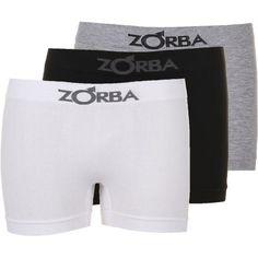 [American Gilrs] Kit Com 3 Cuecas Boxer Zorba Sem Costura GG - R$ 29,88